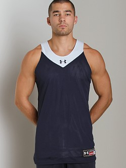 Under Armour Dominate Reversible Tank Top Midnight Navy/White