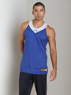 Under Armour Dominate Reversible Tank Top Royal/White