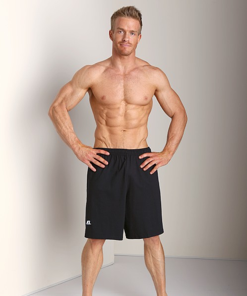 Russell Athletic 100% Cotton Gym Short Black