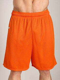 Russell Athletic 100% Tricot Mesh Gym Shorts Burnt Orange