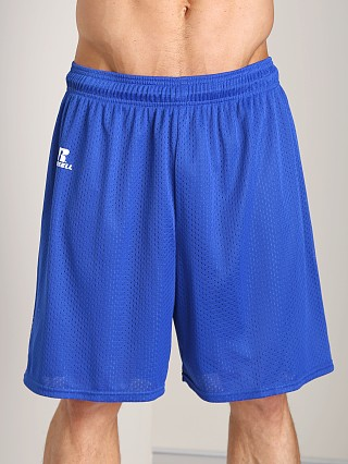 Russell Athletic 100% Tricot Mesh Gym Shorts Royal