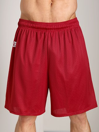 Russell Athletic 100% Tricot Mesh Gym Shorts Cardinal