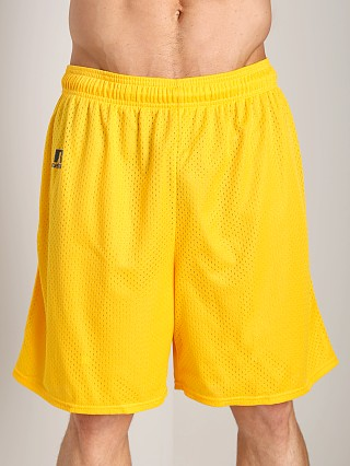 Russell Athletic 100% Tricot Mesh Gym Shorts Gold