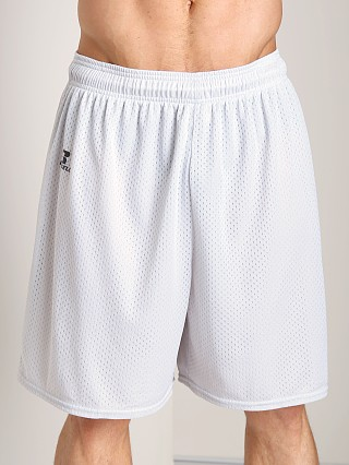 Russell Athletic 100% Tricot Mesh Gym Shorts Gridiron Silver