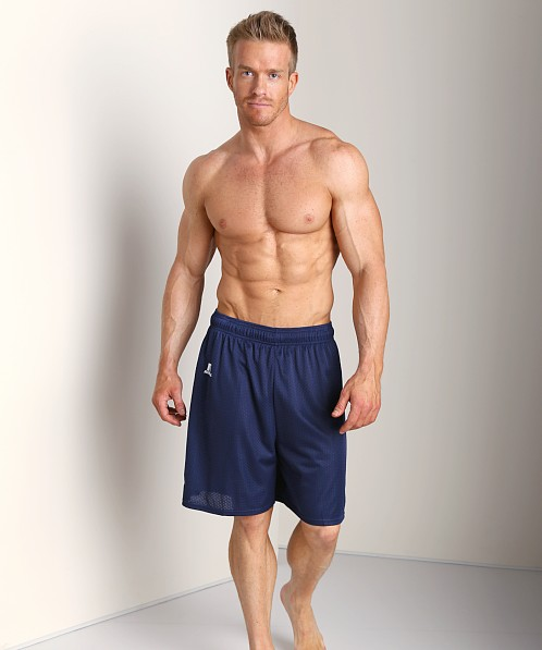 Russell Athletic 100% Tricot Mesh Gym Shorts Navy
