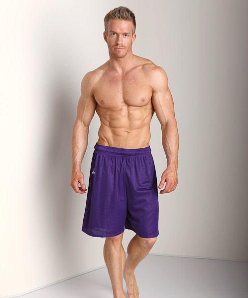 Russell Athletic 100% Tricot Mesh Gym Shorts Purple
