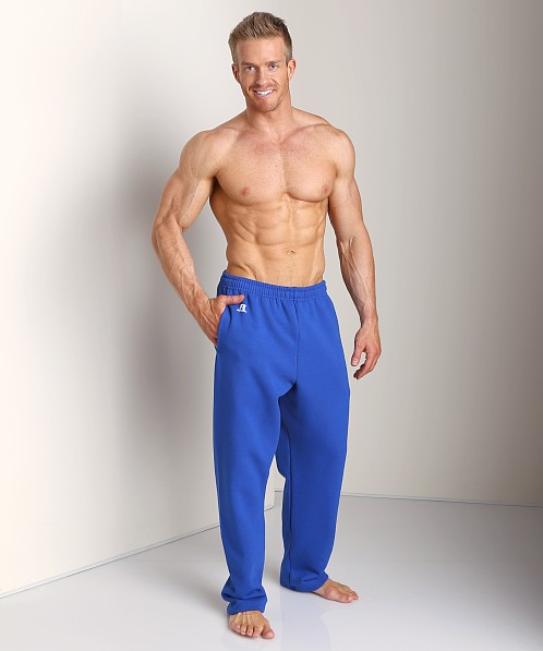 Russell Athletic Dri-Power Cotton Blend Fleece Sweat Pant Royal