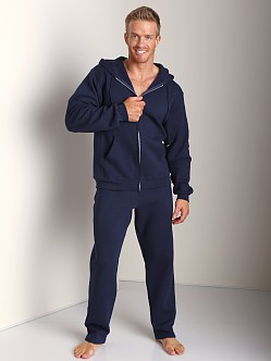 Russell Athletic Dri-Power Cotton Blend Full Zip Hoodie Navy