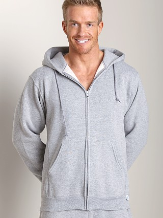 Russell Athletic Dri-Power Cotton Blend Full Zip Hoodie Oxford G