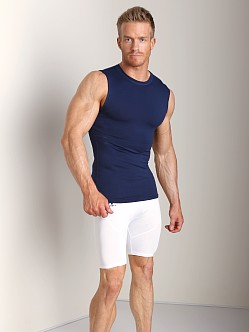 Russell Athletic Performance Compression Muscle Shirt Navy