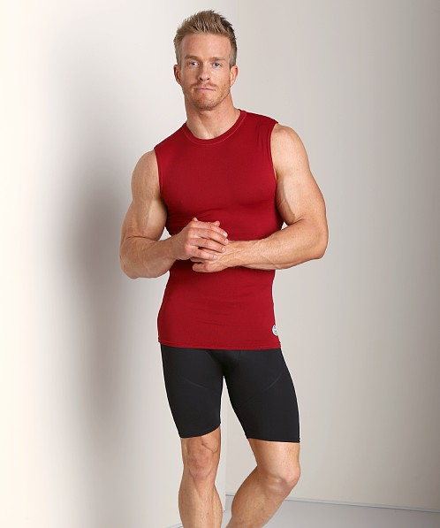 Russell Athletic Performance Compression Muscle Shirt Cardinal