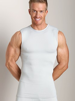 Russell Athletic Performance Compression Muscle Shirt Silver