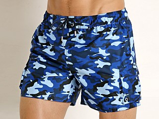 2xist Fashion Cargo Swim Shorts Traditional Camo Blue