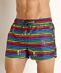 2xist Pride Ibiza Swim Shorts Love Stripe Rainbow, view 3