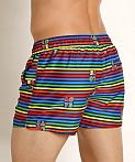 2xist Pride Ibiza Swim Shorts Love Stripe Rainbow, view 4
