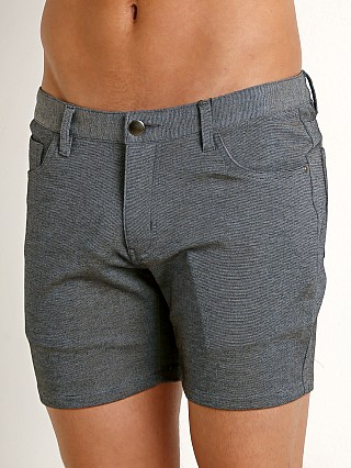 St33le Knit Jeans Shorts Grey