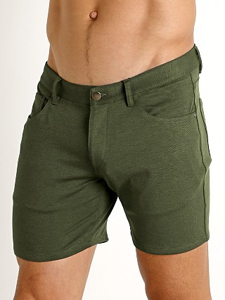 Complete the look: St33le Knit Jeans Shorts Olive