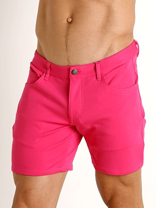 St33le Knit Jeans Shorts Fuschia