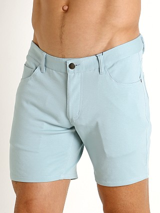 St33le Knit Jeans Shorts Sea Foam