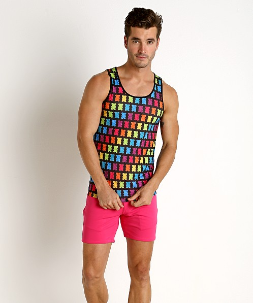 St33le Stretch Mesh Tank Top Printed Gummy Bears
