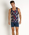 St33le Stretch Mesh Tank Top Printed Ice Cream, view 1