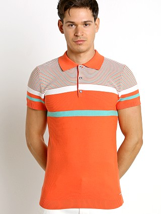 Diesel K-Cortez Knit Polo Shirt Hot Coral
