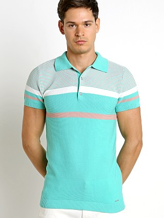 Diesel K-Cortez Knit Polo Shirt Electric Green