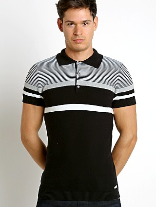 Diesel K-Cortez Knit Polo Shirt Black