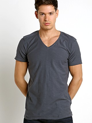 Diesel T-Court V-Neck Shirt Total Eclipse