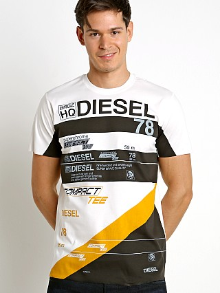 Diesel T-Joe-Ni Racing T-Shirt Bright White