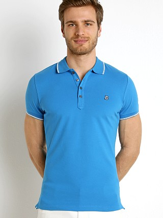 Diesel T-Skin Stretch Piquet Polo Shirt Mediterranean Blue