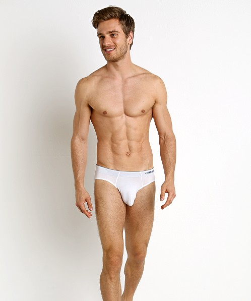 John Sievers HIGHLITE Natural Pouch Brief White/Denim