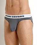John Sievers SLEEK Natural Pouch Brief Steel Grey, view 3