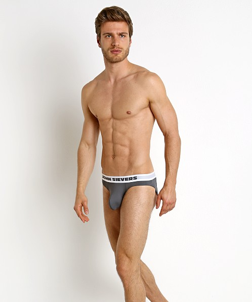 John Sievers SLEEK Natural Pouch Brief Steel Grey