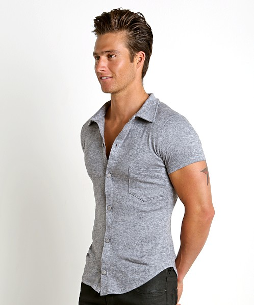 Modus Vivendi Mohair-Look Shortsleeve Shirt Grey