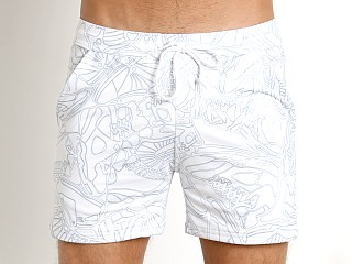 Complete the look: LASC White Party Printed Performance Short White Picasso