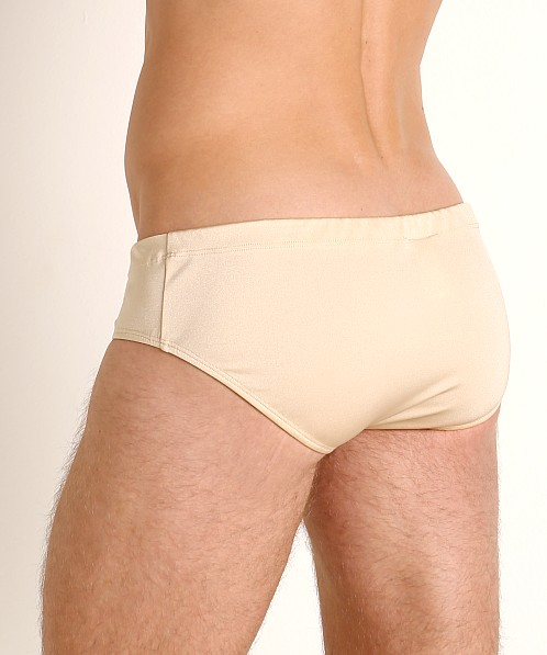Rick Majors Power Spandex Drawcord Brief Tan