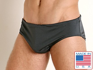 Rick Majors Power Spandex Drawcord Brief Charcoal