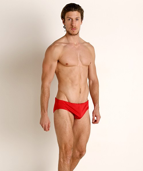 Rick Majors Power Spandex Drawcord Brief Red