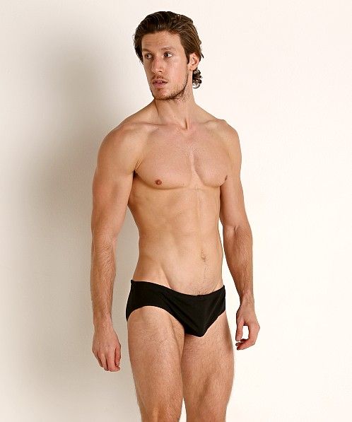 Rick Majors UltraLite Stretch Cotton Drawcord Brief Black