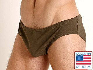 Rick Majors UltraLite Stretch Cotton Drawcord Brief Olive