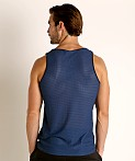St33le Air Mesh Performance Tank Navy, view 4