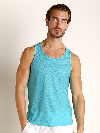 Complete the look: St33le Air Mesh Performance Tank Aqua