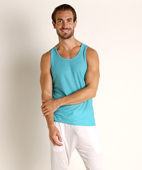 St33le Air Mesh Performance Tank Aqua