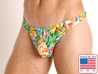 Model in summer blooms LASC Brazil Swim Thong