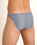 LASC Super Low Rise Swim Brief Black Gingham Checks, view 4