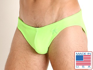 LASC St. Tropez Low Rise Swim Brief Neon Lime