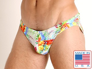 LASC St. Tropez Low Rise Swim Brief Bright Macaws