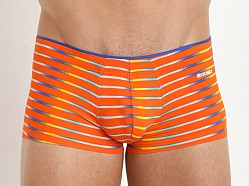 2xist Pro No Show Trunk Orange Active Stripe