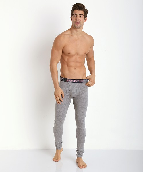 2xist Tartan Long Underwear Grey Heather 3104070801-06203 at ...